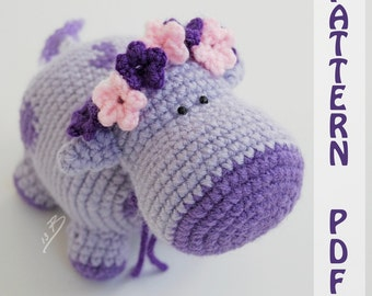 PDF CROCHET PATTERN - Cows