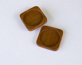 NO laser finished hardwood bezel trays - Mahogany - 35 mm - (F3-M) - Set of 2