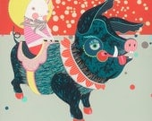 Pig - Large Original Fine Art Painting