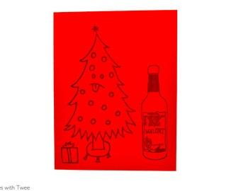 Malort Christmas Card, set of 5 cards, Chicago liquor