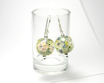 Earrings - Lampwork Glass and Sterling Silver - MADE TO ORDER