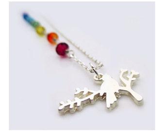 Swarovski Crystal Necklace. Chakra Necklace - SERENITY - Costume Jewelry by Sparklingtwi