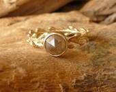 Rose Cut Diamond and Laurel Wreath Ring - Deposit