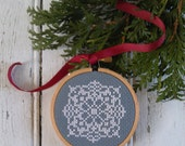 diy x-stitch kit (materials and pattern) frame-it-in-the-hoop - the Doily (two color options)