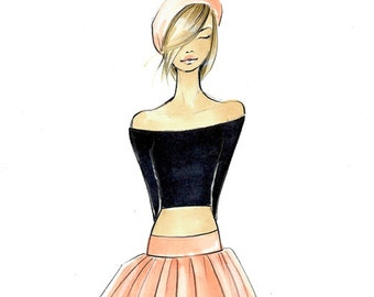 Charlie - Fashion Illustration - by Brooke Hagel
