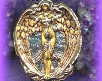 Lilith/Goddess Rosary/Necklace/Pendulum/Scrying Mirror/Shadowbox/EnergyWork/Gothic /Victorian/Altar Set/Spellbound Gems(tm)/Hand Embossed/