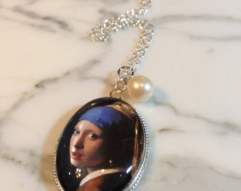 The Girl with a Pearl Earring, Charm Necklace, Pendant Necklace, Pearl Necklace, Girl With Pearl Earring, Pearl Earrings, Pearl Charm