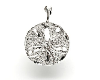 Sterling Silver Sand Dollar Sea Shell Charm Pendant N32 Clearance