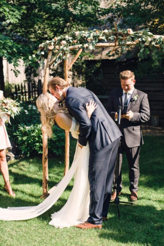 Detachable Silk Chiffon Train for Annie Wedding Gown
