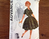 Vintage Pattern 1950s Pat Boone Pattern - Advance 9111 Full Rockabilly Skirt and Shirtwaist Separates
