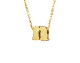 n - block letter initial necklace