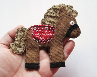 Horse Applique, Horse Patch, Horse Scrapbooking Embellishment, Fabric Horse, Horse Embellishment, Scrap Fabric Horse, Made to Order