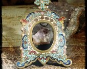 French enamel miniature frame medieval style