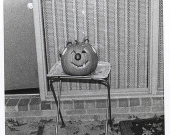 vintage photo Halloween Pumpkin 1966