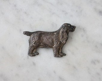 silver dog brooch / retriever dog pin / sterling silver brooch