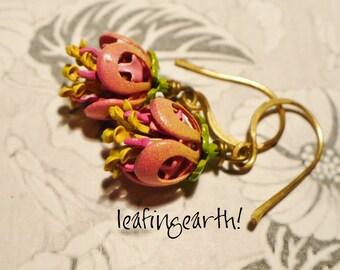 enamel flower earrings ALSTROEMERIA
