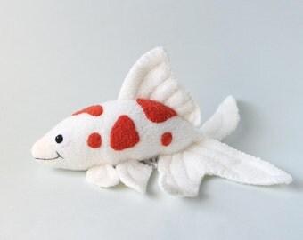 Popular items for plush koi fish on etsy for Koi fish plush