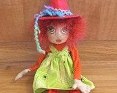Halloween Folk Art Witch Art Doll