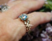 Swarovski Crystal AB Hand Crafted Wire Wrapped Ring Original Signature Design Fine Jewelry