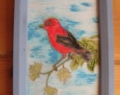 Scarlet Tanager RESERVED for Wendy