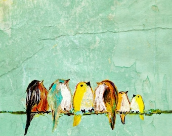 We Are the World Six ~ Six birds on a wire