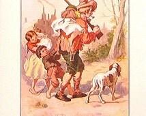 Rip Van Winkle -1902 Antique Children's Book Plate