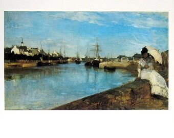 French Impressionist Art - Berthe Morisot - The Harbor at Lorient - 1977 Large Poster Sized Print