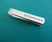 Groomsman Tie Bar - Groomsman Tie Clip - Wedding Party Accessory