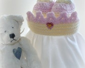 Crocheted Princess Crown with Matching Booties