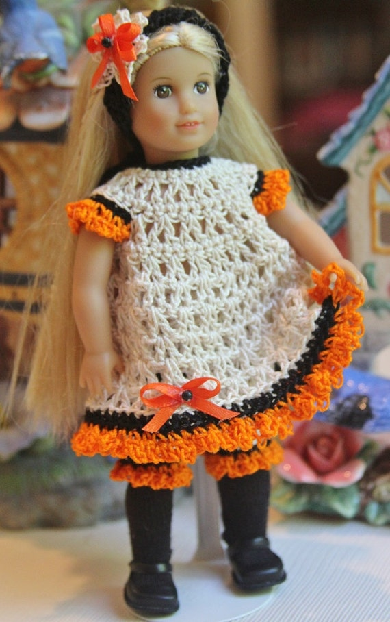 Crochet Mini Doll Clothes : Crochet outfit for AG Mini 6 inch doll Dress Set bloomers