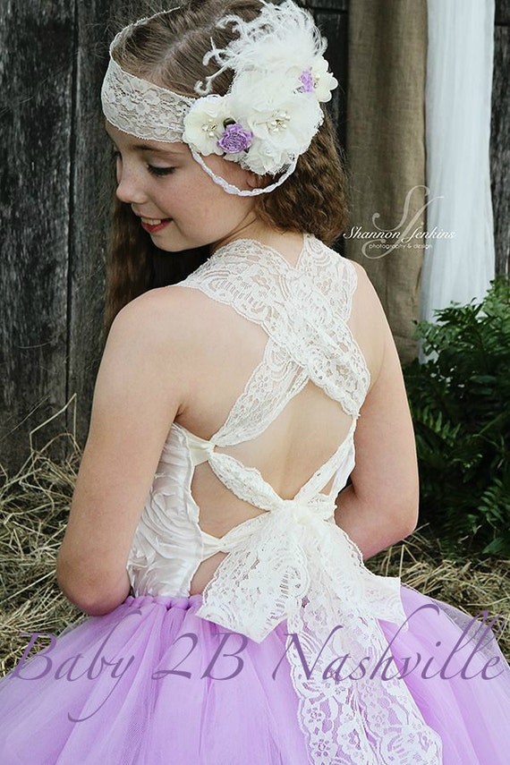 Gypsy Lace  Wedding Accessory Floral Hair Accessories Wedding Headband Wedding Hairpiece Lace Headband to match your dress