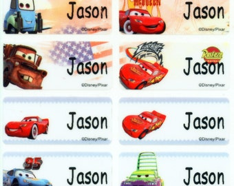 Cars M waterproof washable personalized name label sticker tag baby child children kid toddler school supply daycare camp nursing office