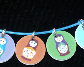 STITCHMARKERS for KNITTERS or CROCHETERS, Matryoshka