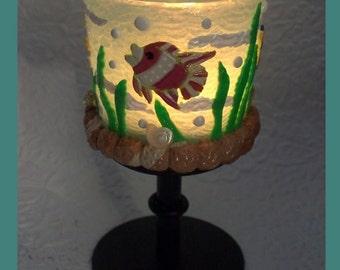 Sealife Tealight Pedestal Candleholder