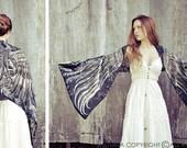 Goth Shawl, Gothic Wrap, Goth Clothing, Black Scarf, Black Fashion Gift, Bird Wings Scarf, Long Shawl, Maxi Wrap, Bridesmaid Wrap
