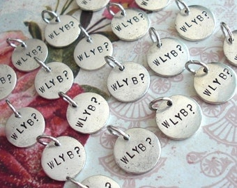 WHOLESALE QTY 15 Mini Disc Charms  .. Customize Design .. Animals, Symbols, Monograms, Initials, Little, Tiny. silver, copper or gold finish