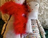 PARISIAN RAG DOLL -- Valentine Gift -- Valentine Doll -- Rag Doll -- Soft Toy -- Chic Doll