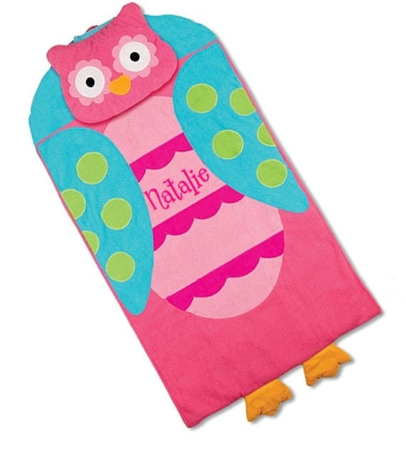 toddler nap mat personalized daycare preschool owl monogrammed