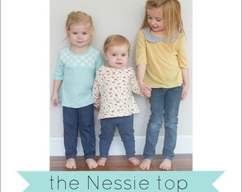 the Nessie knit top PDF pattern