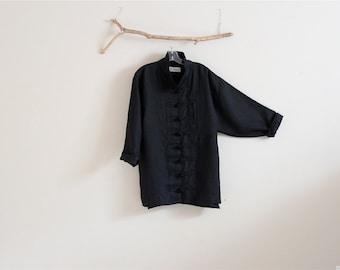 handmade to measure eco linen jacket