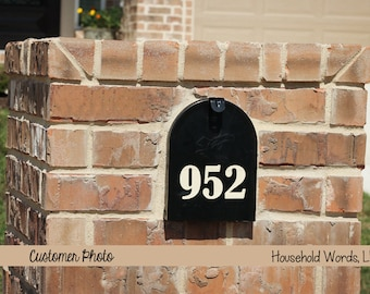 Mailbox Front Door Number Farmhouse style Self Adhesive Vinyl Decals, Mailbox Street Numbers, Outdoor decals, Curb Appeal Numbers