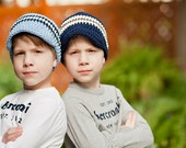 Boys Hat 30 Colors 4T to Preteen Boys Cotton Hat Crochet Hat Boy Knit like Striped Visor Beanie Design Your Own Boys Clothing Boys Clothes