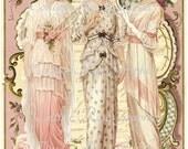 3 Vintage Victorian fashion ladies Roses Large digital download  BUY 3 get one FREE ecs svfteam