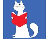 Le chat intellectuelle big print