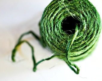 Super Chunky Green Twine {5.0m} | Green Jute Twine | Rustic Gift Wrap | Rustic Weddings | Easter Gift Wrap
