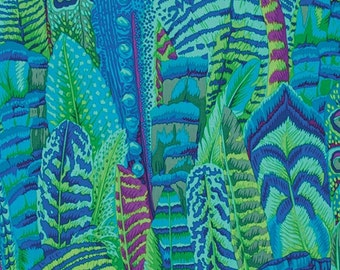 Kaffe Fassett Feathers Green Phillip Jacobs Fabric 1 yard