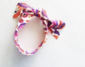 Baroque Jewels Head Scarf / Hair Accessory / Neck Scarf / Handbag Adornment / Jeweltone Colors / Rockabilly Scarf / Gift Under 15