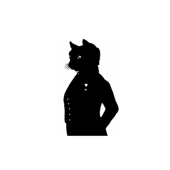 The Cheshire Cat Alice In Wonderland Silhouette Print Black and White