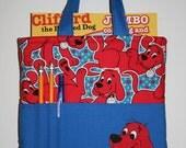 Crayon Tote Bag, Tote Bag, Crayon Holder, Clifford Crayon Bag, Ready to Ship