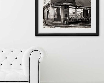 "SALE! Paris Print, ""Cafe Moulins"" Extra Large Wall Art, Paris Photography Art Print, Oversized Art, Fine Art Photography Paris Decor"